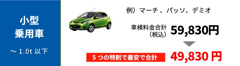 小型乗用車の最大割引の適用例